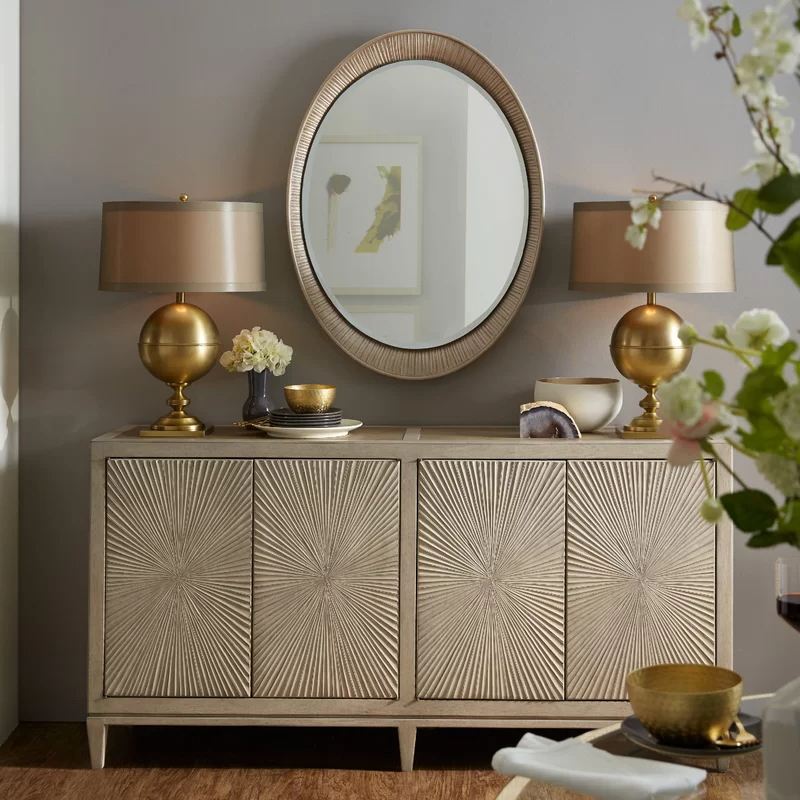 """Sideboard Decor Throughout Fashionable Bruin 56"""" Wide 2 Drawer Sideboards (View 17 of 20)"""