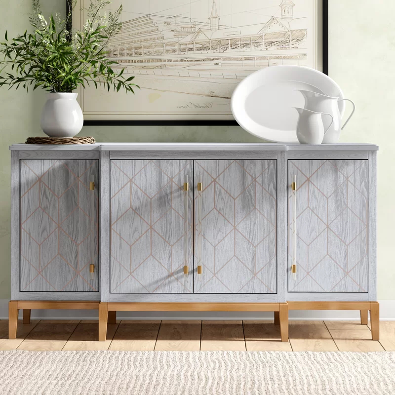 """Sideboard Grey Intended For Kidham 68"""" Wide Sideboards (View 20 of 20)"""
