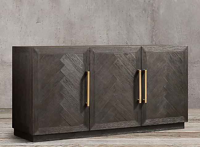 """Sideboard Within Well Known Herringbone 48"""" Wide Buffet Tables (View 12 of 20)"""