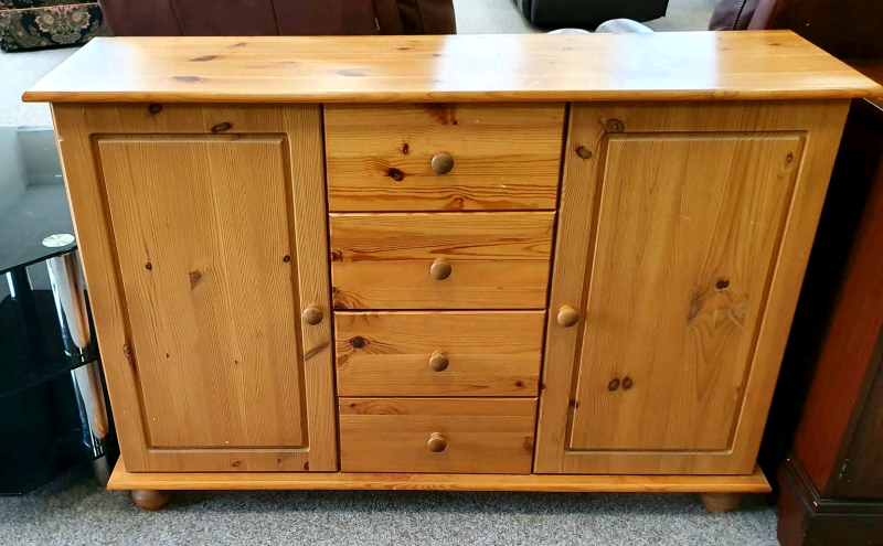 """Slattery 52"""" Wide 2 Drawer Buffet Tables Regarding Well Liked Pine 2 Door, 4 Drawer Sideboard (View 17 of 20)"""