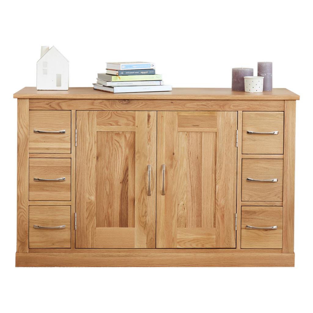 "Solid Oak Furniture, Oak For Fashionable Maeva 60"" 3 Drawer Sideboards (View 9 of 20)"