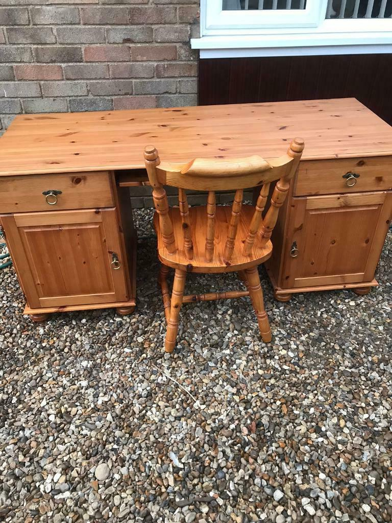 Solid Pine Desk And Chair (can Deliver) (View 20 of 20)