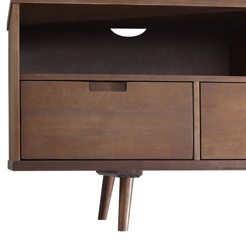 """Solid Wood Tv Pertaining To George Oliver Sideboards """"new York Range"""" Gray Solid Pine Wood (View 6 of 20)"""