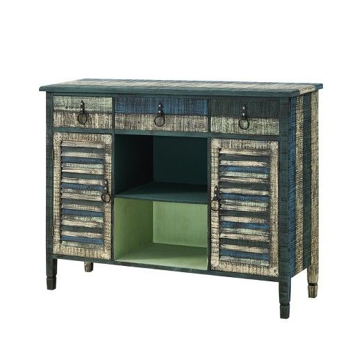 """Stotfold 32"""" Wide Drawer Servers For Well Known Marley Buffet Server Distressed – Powell Company (View 6 of 20)"""