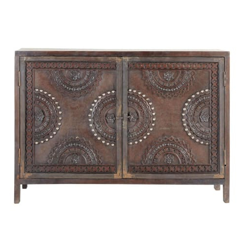 """Strock 70"""" Wide Mango Wood Sideboards In Most Popular Mango Wood Carved Sideboard In Brown W 115cm Mozambique (View 20 of 20)"""