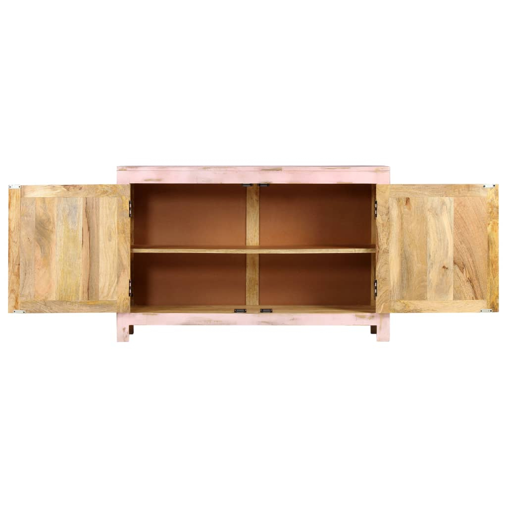 """Strock 70"""" Wide Mango Wood Sideboards Pertaining To 2020 Sideboard Light Pink 110x35x70 Cm Solid Mango Wood (View 13 of 20)"""