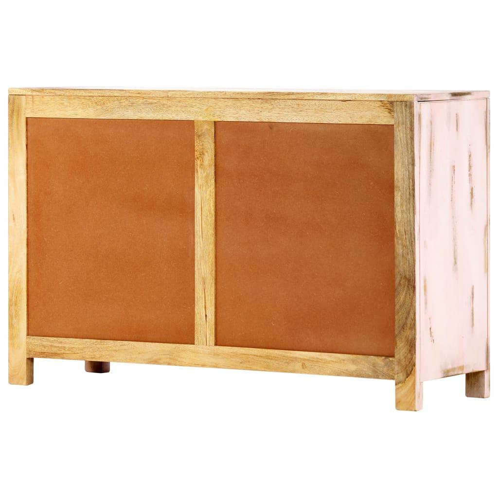 "Strock 70"" Wide Mango Wood Sideboards Regarding Fashionable Sideboard Light Pink 110x35x70 Cm Solid Mango Wood (View 4 of 20)"