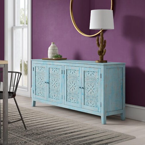 """Strock 70"""" Wide Mango Wood Sideboards Within Well Known Bungalow Rose Cheyanna 70"""" Wide Mango Wood Sideboard (View 9 of 20)"""