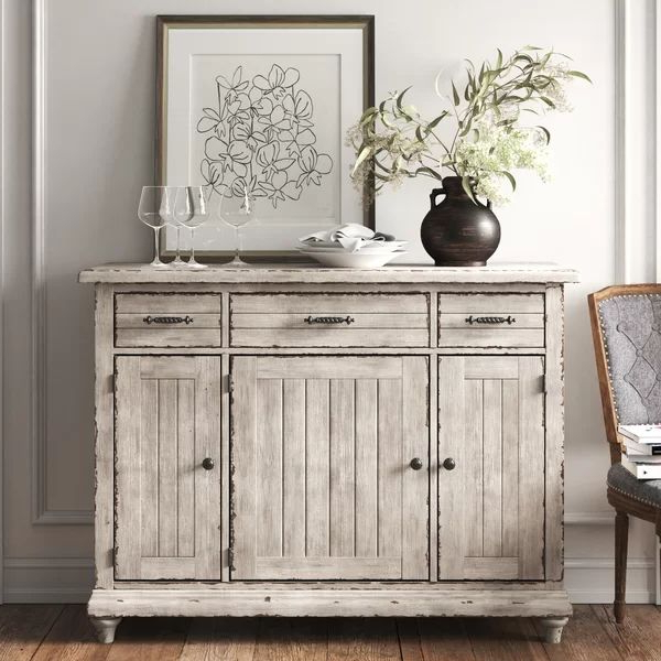 """Studio 56"""" Wide 3 Drawer Sideboard In (View 10 of 20)"""