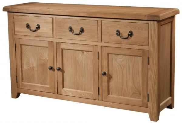 Suffolk Oak 3 Door 3 Drawer Sideboard Regarding Latest 3 Drawer Sideboards (View 19 of 20)