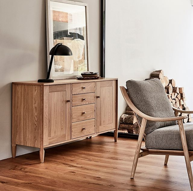 """The Capena Large Sideboard With Two Large Cupboards Throughout Current Orianne 55"""" Wide 2 Drawer Sideboards (View 14 of 20)"""