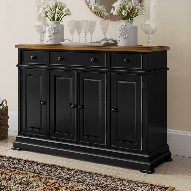"""Three Posts Courtdale 60"""" Wide 3 Drawer Sideboard Regarding Most Up To Date 3 Drawer Sideboards (View 8 of 20)"""