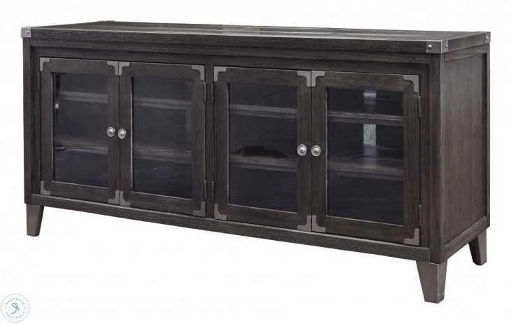 """Todoe Gray 70"""" Tv Stand From Ashley (View 18 of 20)"""