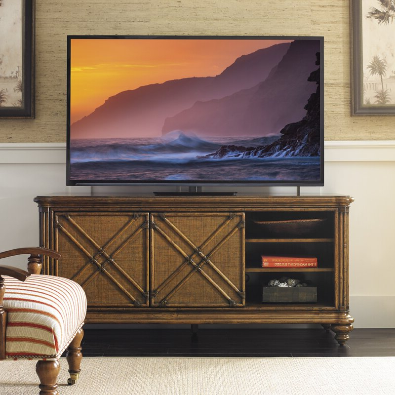 Tommy Bahama Home Bali Hai Solid Wood Tv Stand For Tvs Up Inside Well Known Blaire Solid Wood Tv Stands For Tvs Up To (View 16 of 20)