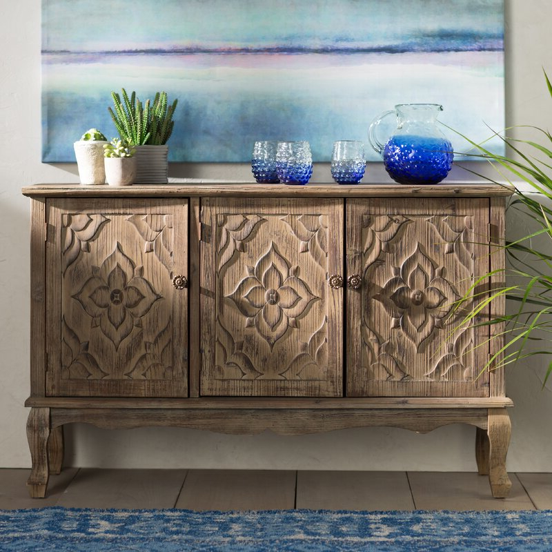 Top 23 Best Distressed Sideboards And Buffets 2019 • Top9home Inside Newest Pixley  (View 3 of 20)