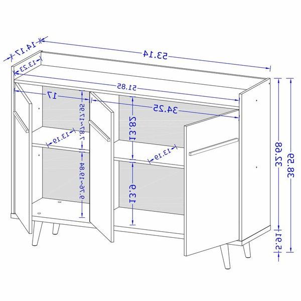"""Trendy Bewley 53.54"""" Wide Sideboards In Corrigan Studio® Bewley (View 8 of 8)"""
