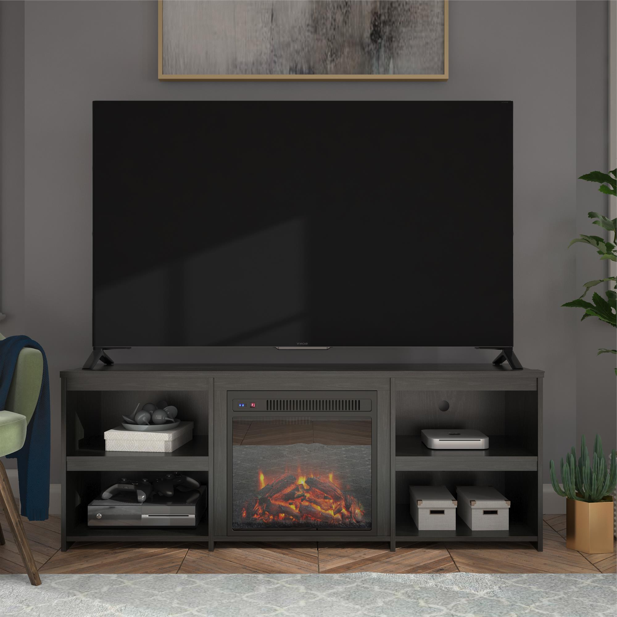 """Trendy Bloomfield Tv Stands For Tvs Up To 65"""" With Regard To Ameriwood Home Bannack Fireplace Tv Stand For Tvs Up To (View 9 of 20)"""