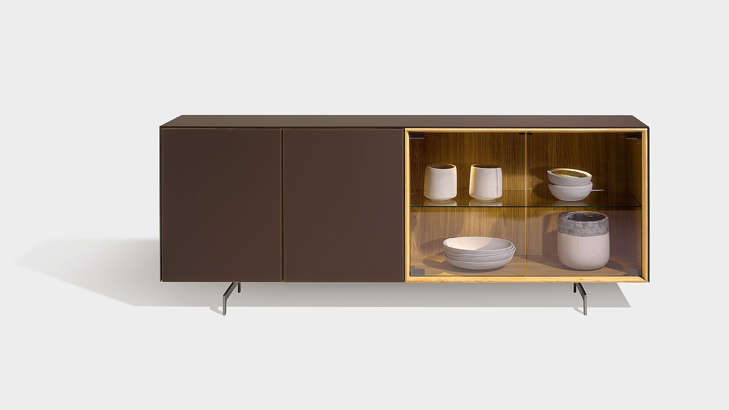 """Trendy Cubus Pure Occasional Furniture With Runner In Shiny Intended For Miruna 63"""" Wide Wood Sideboards (View 11 of 20)"""