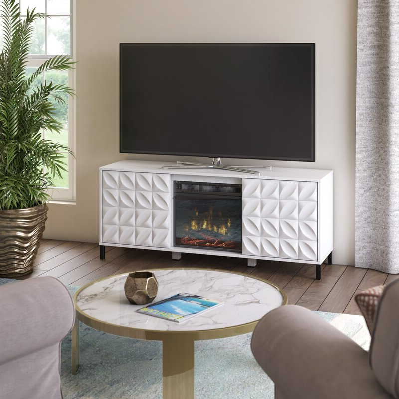 """Trendy Ebern Designs Mitchellville Tv Stand For Tvs Up To 60 In Miah Tv Stands For Tvs Up To 60"""" (View 7 of 20)"""