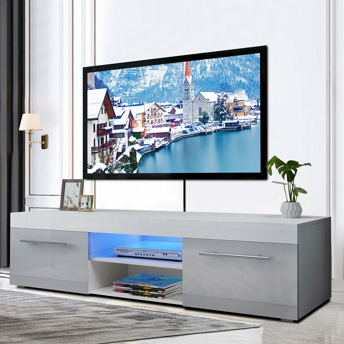 """Trendy Led Tv Stand Entertainment Center, For Tvs Up To 58"""" With With Regard To Greggs Tv Stands For Tvs Up To 58"""" (View 15 of 20)"""