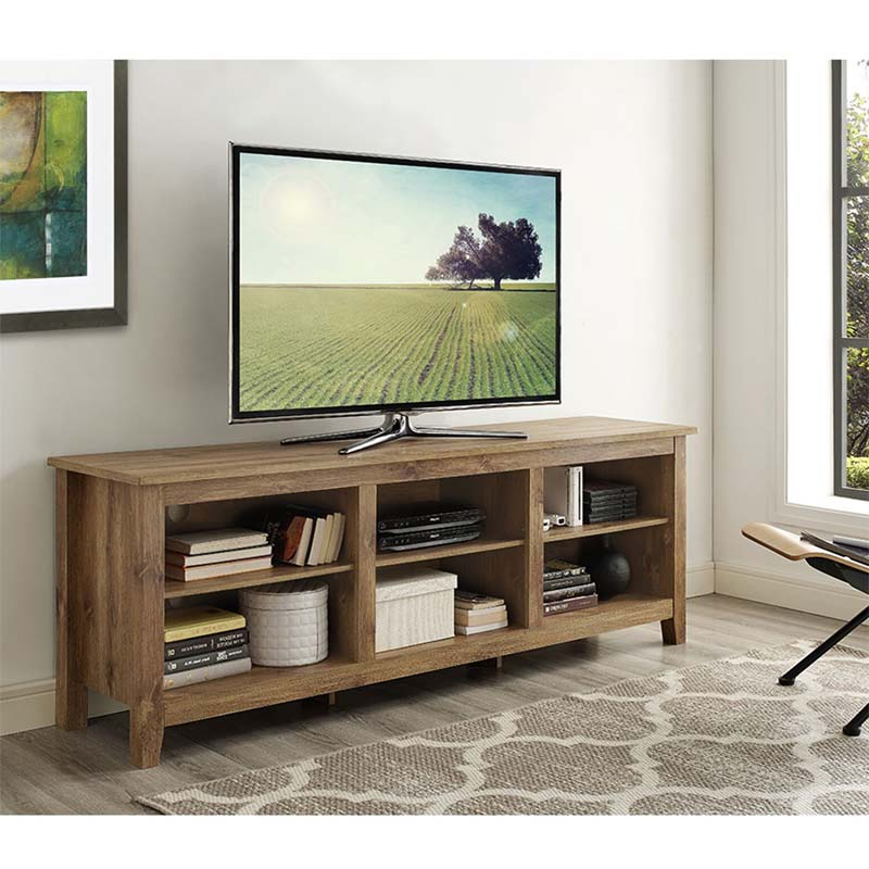 """Trendy Lederman Tv Stands For Tvs Up To 70"""" For Walker Edison Essentials 70 Inch Tv Stand Barnwood W70cspbw (View 10 of 20)"""