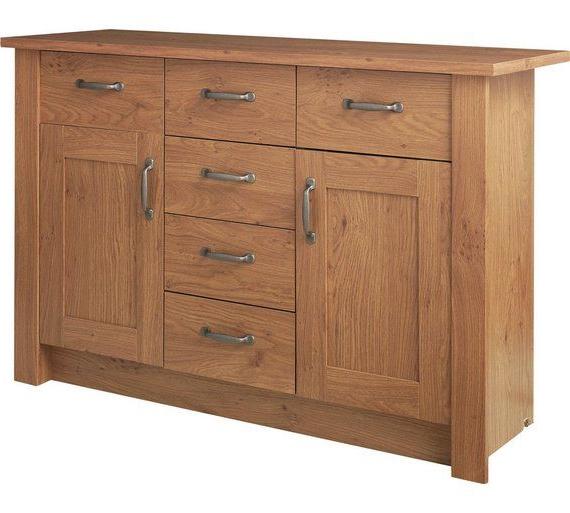 "Trendy Orianne 55"" Wide 2 Drawer Sideboards With Buy Argos Home Ohio 2 Door 6 Drawer Sideboard – Oak Effect (View 11 of 20)"