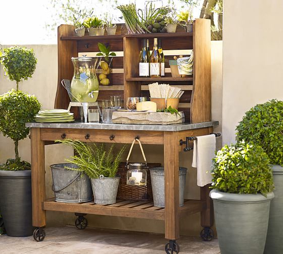Trendy Pin On Outdoor Intended For Leveille Buffet Tables (View 10 of 20)
