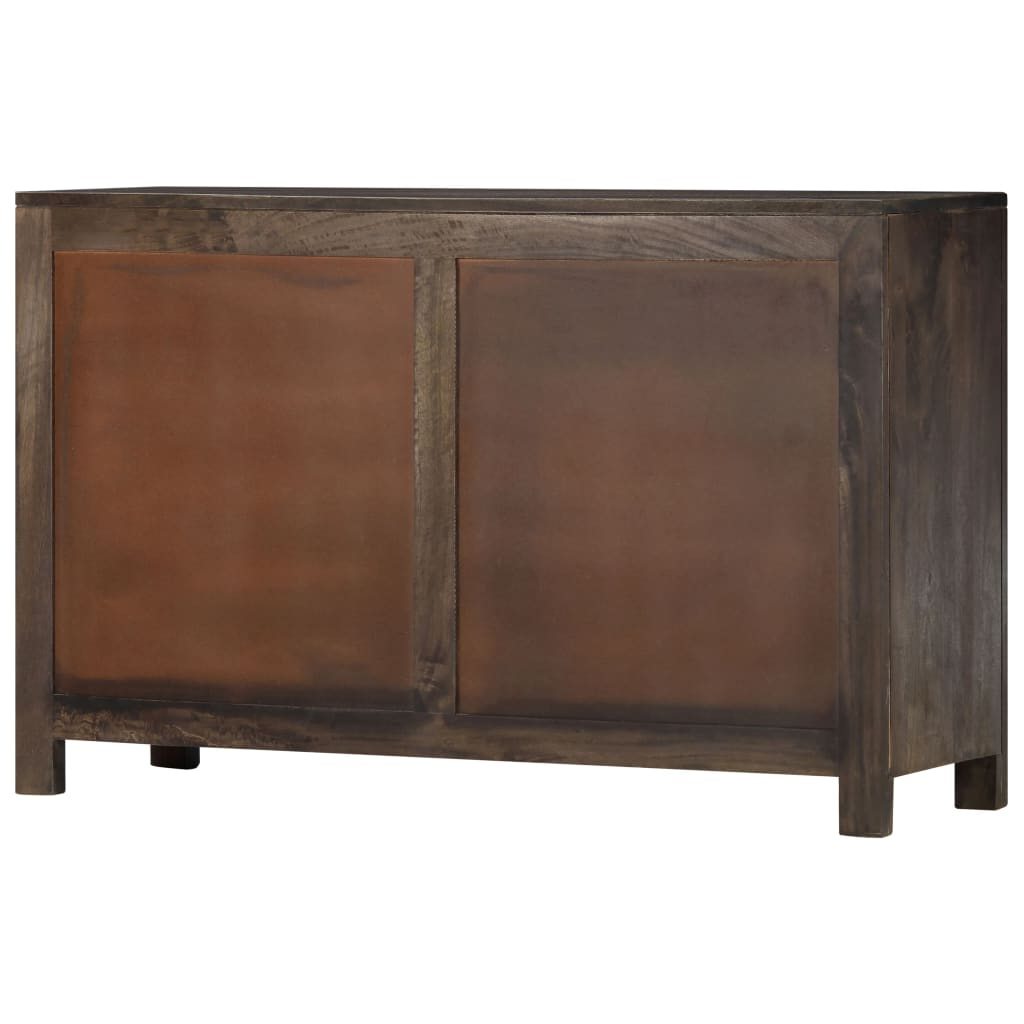 """Trendy Sideboard With Carved Design 110x35x70 Cm Solid Mango Wood With Regard To Strock 70"""" Wide Mango Wood Sideboards (View 3 of 20)"""