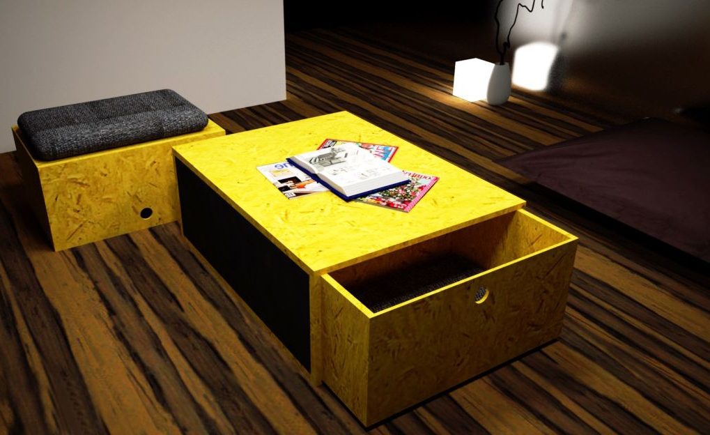 Trendy Table Basse Fullbox Intended For Leveille Buffet Tables (View 11 of 20)