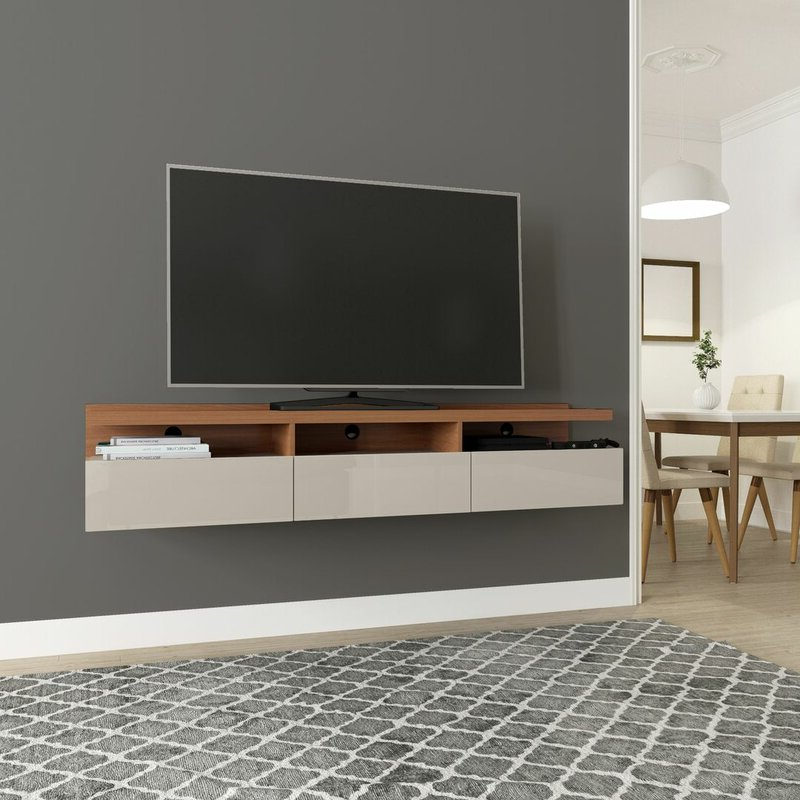 """Trendy Wade Logan Julius Floating Tv Stand For Tvs Up To 65 With Finnick Tv Stands For Tvs Up To 65"""" (View 7 of 20)"""