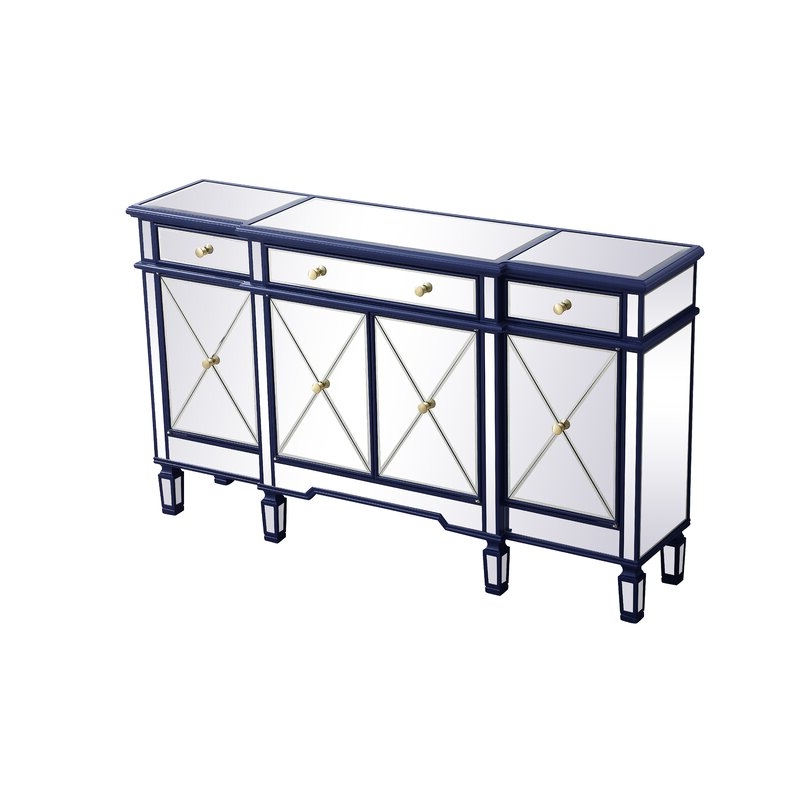 """Trendy Willa Arlo Interiors Contempo 60"""" Wide 3 Drawer Sideboard Within Caila 60"""" Wide 3 Drawer Sideboards (View 15 of 20)"""