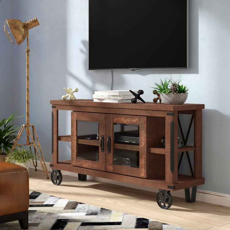 """Trent Austin Design Leandra Solid Wood Tv Stand For Tvs Up For Current Lucille Tv Stands For Tvs Up To 75"""" (View 9 of 20)"""