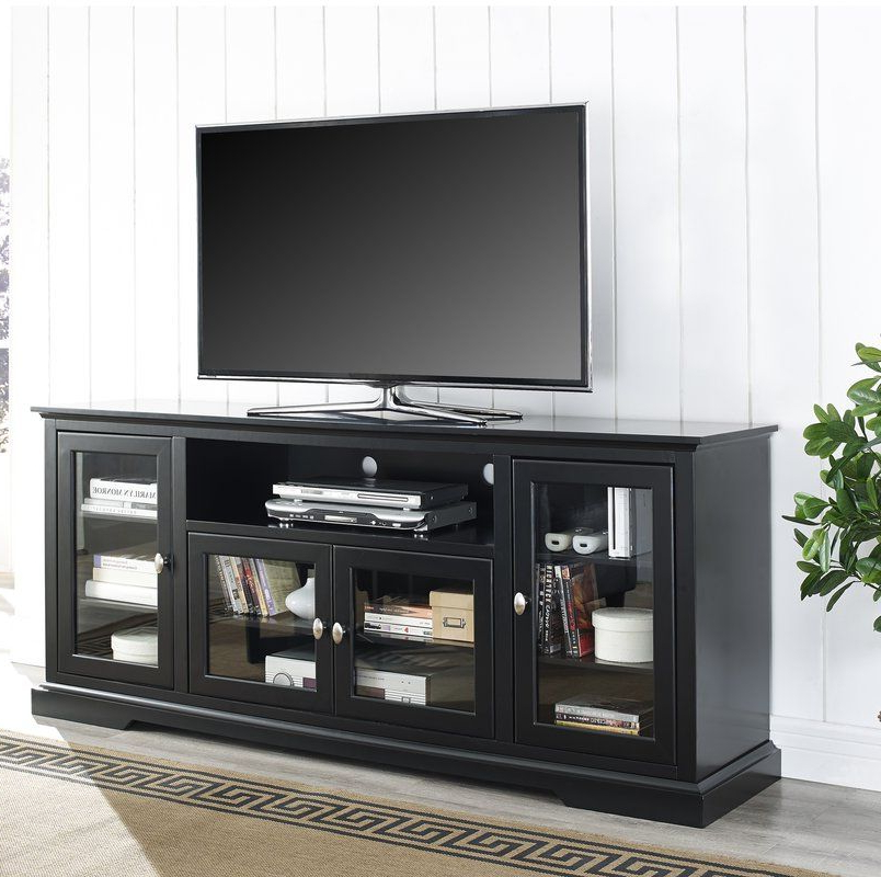 """Tv Stand With Glass Within Most Recently Released Ira Tv Stands For Tvs Up To 78"""" (View 19 of 20)"""