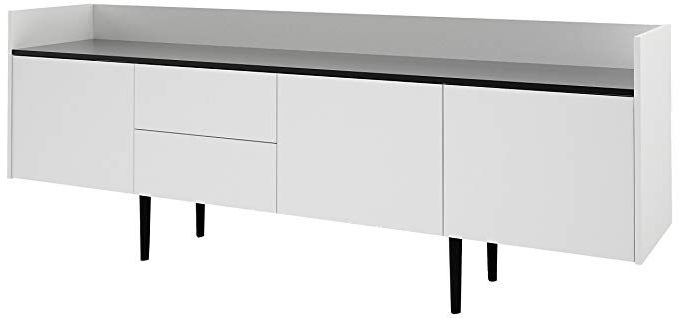 """Tvilum 7004849dj Unit 2 Drawer And 3 Door Sideboard, White For Most Current Nahant 36"""" Wide 4 Drawer Sideboards (View 20 of 20)"""