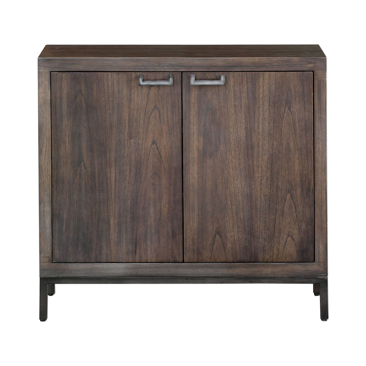 """Uttermost Nadie Light Walnut Console Cabinet 25866 Intended For Current Macdonald 36"""" Wide Mango Wood Buffet Tables (View 2 of 20)"""