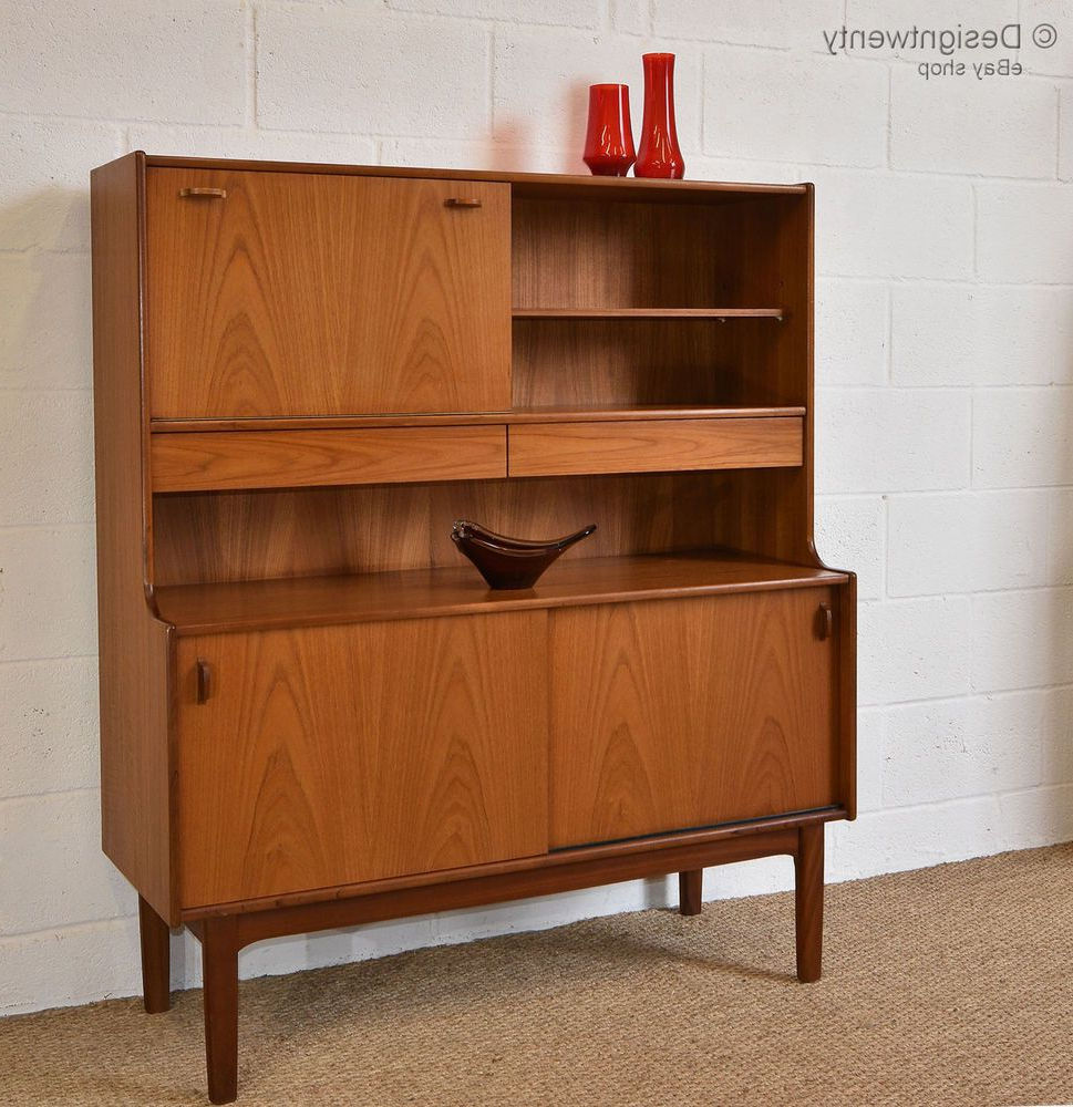 "Vintage 1960s Teak Nathan High Sideboard Cabinet Mid With Trendy Miruna 63"" Wide Wood Sideboards (View 17 of 20)"