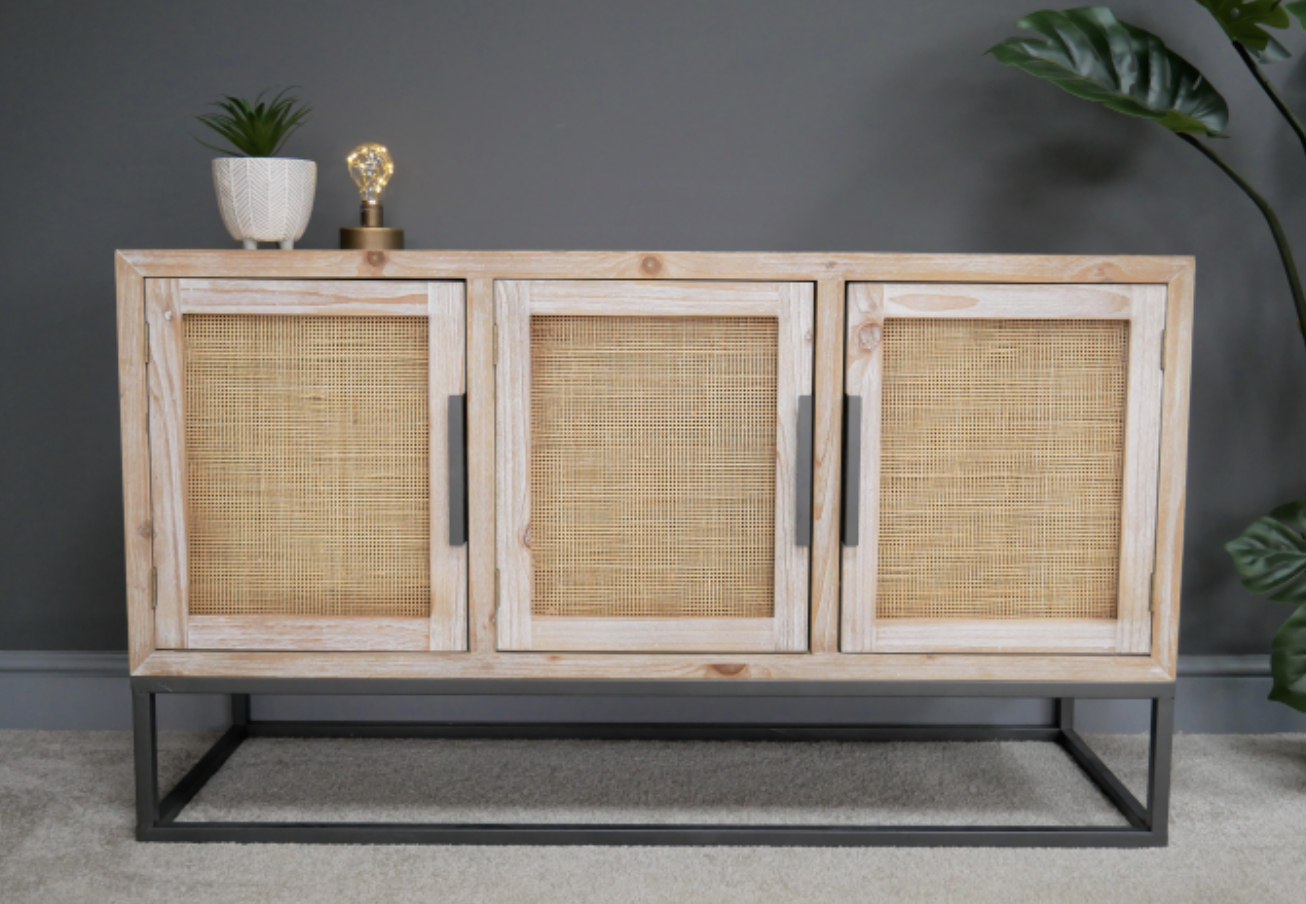 Wales Storage Sideboards Intended For Popular Large Rustic Industrial Sideboard (View 7 of 20)