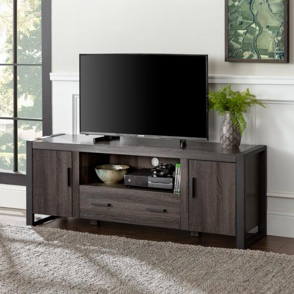 """Walker Edison Furniture Company Urban Blend 60 In Throughout Famous Alannah Tv Stands For Tvs Up To 60"""" (View 16 of 20)"""