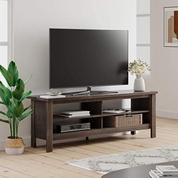 """Wampat Farmhouse Wood Tv Stand For 65 Inch Flat Screen Throughout Well Known Buckley Tv Stands For Tvs Up To 65"""" (View 4 of 20)"""