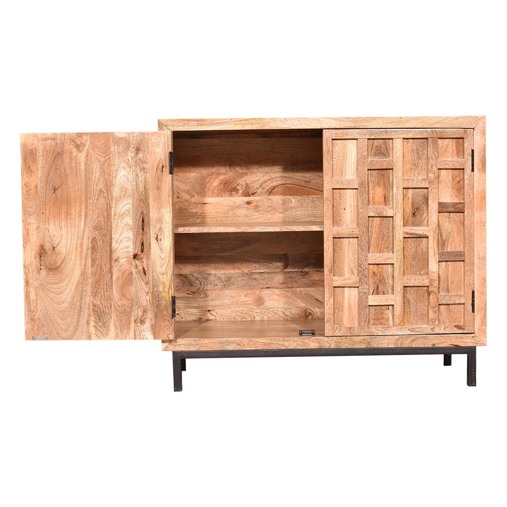 "Well Known 2 Door Sideboard, Mango Wood – Wood Décor Inside Miruna 63"" Wide Wood Sideboards (View 6 of 20)"