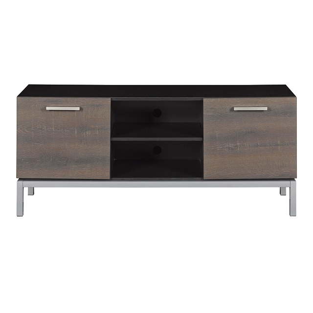 """Well Known 56"""" Imperial Black Entertainment Media Tv Stand – Tc52 Inside Kemble Tv Stands For Tvs Up To (View 11 of 20)"""