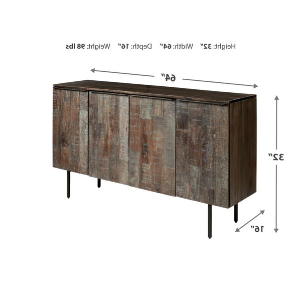 """Well Known 64"""" Wide Rubberwood Sideboards Within Union Rustic Fremont 64"""" Wide Sideboard & Reviews (View 15 of 20)"""