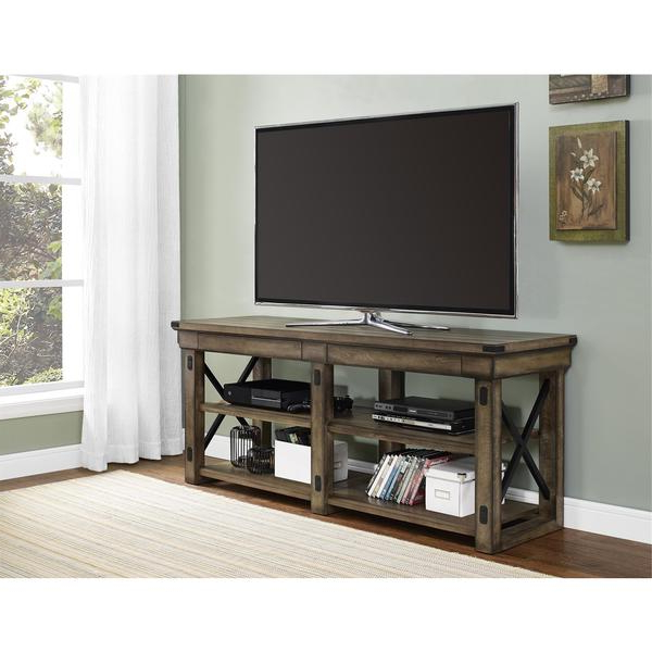 """Well Known Aaric Tv Stands For Tvs Up To 65"""" Regarding Altra Wildwood Rustic Grey 65 Inch Tv Stand – Free (View 17 of 20)"""