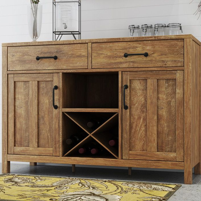 """Well Known Barkell 42"""" Wide 2 Drawer Acacia Wood Drawer Servers Inside Avenal 52"""" Wide 2 Drawer Sideboard (View 3 of 20)"""