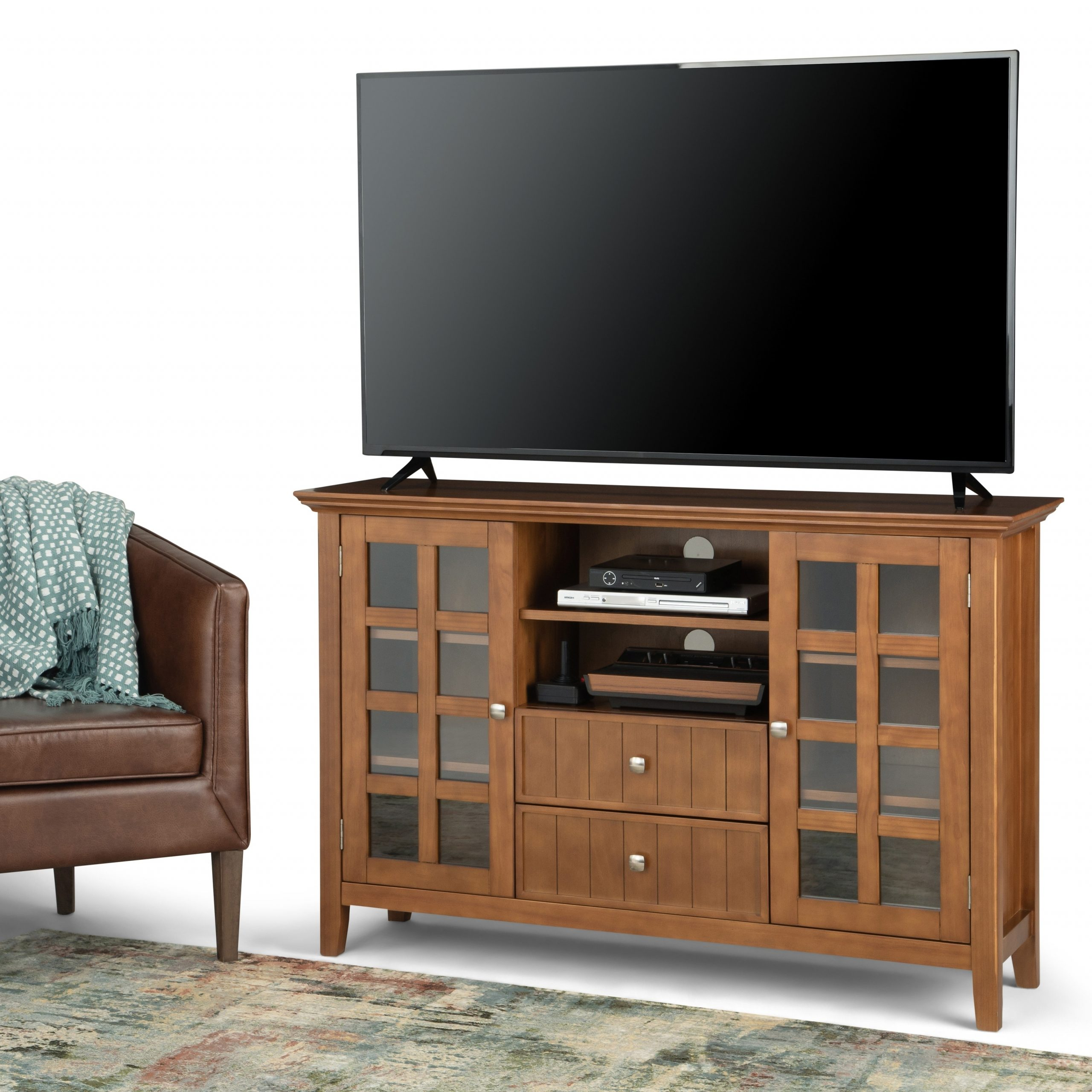 Well Known Blaire Solid Wood Tv Stands For Tvs Up To 75 Throughout Wyndenhall Normandy Solid Wood 53 Inch Wide Rustic Tv (View 5 of 20)