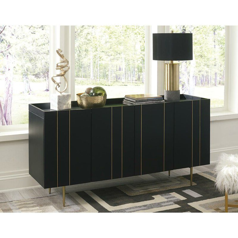 """Well Known Butterfield 64"""" Wide Sideboard In 2020 (with Images Within 64"""" Wide Rubberwood Sideboards (View 18 of 20)"""