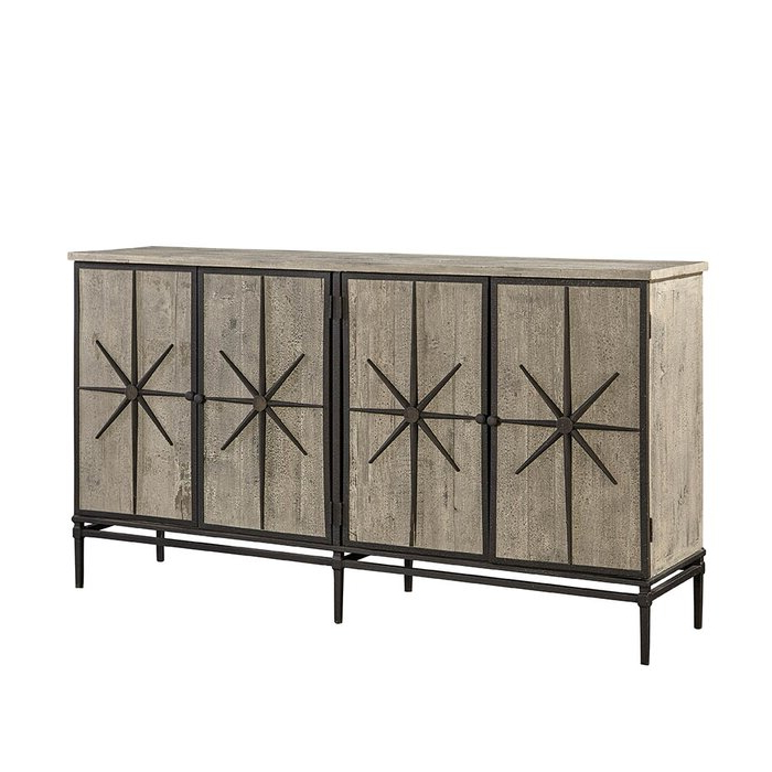 """Well Known Coles 72 Wide Sideboards In Furniture Classics Mallory 72"""" Wide Pine Wood Sideboard (View 19 of 20)"""