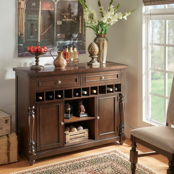 """Well Known Darby Home Co Hilliard 56"""" Wide 2 Drawer Sideboard With Sandweiler 54"""" Wide 2 Drawer Sideboards (View 18 of 20)"""
