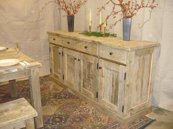 """Well Known Ellison 76"""" Wide Sideboards Within Driftwood Sideboard Cabinet 76 X 21 X 36h (View 4 of 20)"""