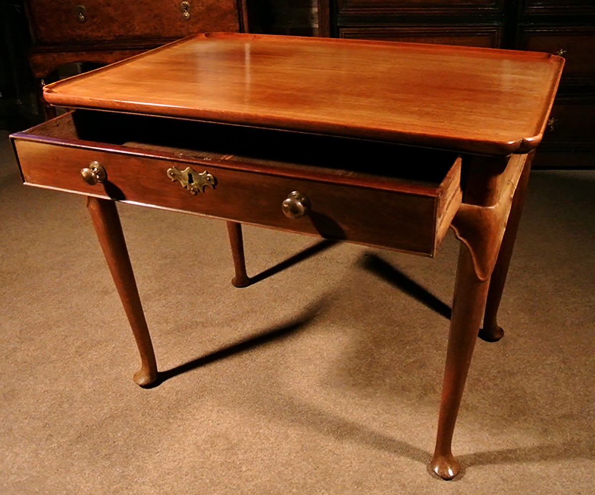 Well Known Fine George Ii Mahogany Silver Table C. 1750 Within Strine  (View 10 of 20)